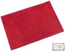 Bőr lap, Piros színű, növényi cserzett bőr lap
